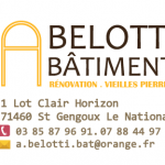 MACONNERIE A.BELOTTI.BATIMENT SAINT GENGOUX LE NATIONAL
